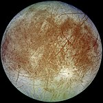 Europa, one of Jupiter's many moons.