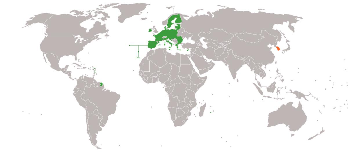 South Korea European Union Relations Wikipedia