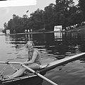 Europese roeikampioenschappen dames in Duisburg, Meike de Vlas in haar boot, Bestanddeelnr 918-0977.jpg