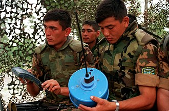 Uzbekistan Ground Forces - Uzbek soldiers in the Exercise Cooperative Osprey '98