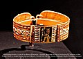 Exhibition Nubia, Land of the Black Pharaohs – Golden Bracelet found in the tomb of a member of the Royal Family in Gebel Barkal.jpg