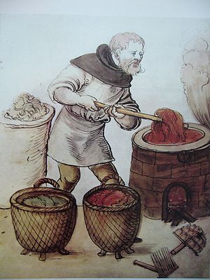 Glossary of dyeing terms - Dyeing in the Middle Ages.