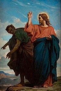 Félix Joseph Barrias - The Temptation of Christ by the Devil - Google Art Project