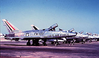 494th Fighter Squadron - 48th Tactical Fighter Wing F-100Ds at Chaumont Air Base in 1957