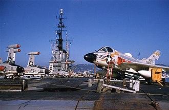 Carrier Air Wing Seventeen - F4D-1s of VF-74 on USS Franklin D. Roosevelt.