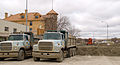 FEMA - 40854 - Dump trucks loaded with clay staged in Valley City, North Dakota.jpg