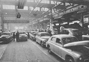 Fabryka Samochodów Osobowych - Warszawas assembled at FSO in the early 1950s