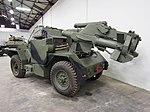 FV1620 Humber Hornet (FV1620, Truck 1 ton, air portable, launcher, Hornet in the Musée des Blindés, France, pic-8.JPG