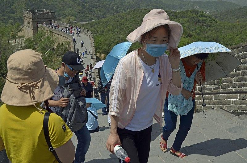 File:Face mask at Great Wall China.jpg