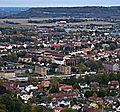 Falköping Västergötland Sweden from Mösseberg viewing tower.JPG