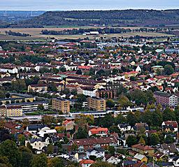 Falköping fra Mösseberg
