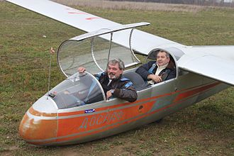 Mikhail Farikh - Mikhail Farikh after his first flight on a glider in 2012.