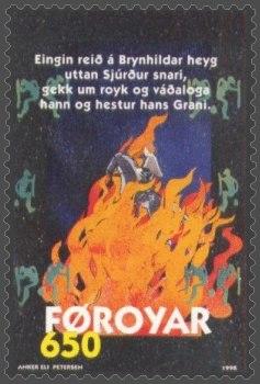 Faroe stamp 321 Grani Jumps the Firewall