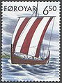 Faroe stamp 408 viking ship.jpg