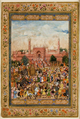 Farrukhsiyar Procession in front of the Great Mosque of Delhi.png