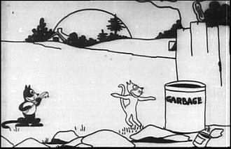 Felix the Cat filmography - Felix in his first screen appearance Feline Follies (1919)