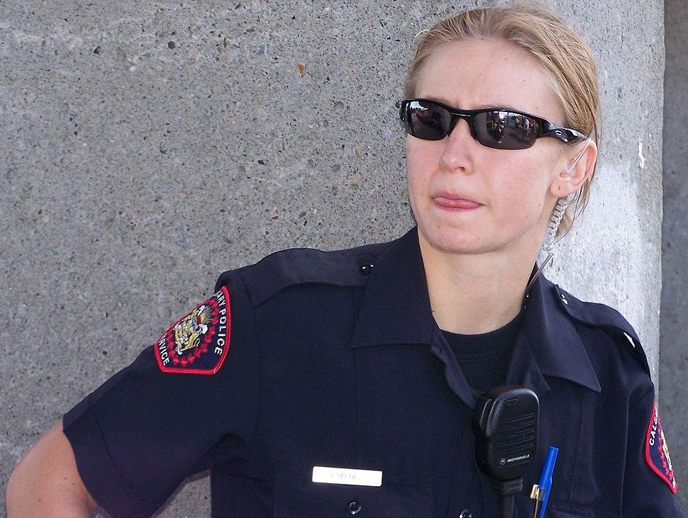 Female Calgary Police officer