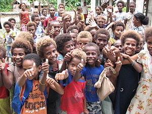 Fenualoa Tuo school children