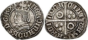 Ferdinand II of Naples - Coin of Ferdinand II.