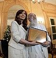Fernando Birri y Cristina Fernández de Kirchner en Roma - 01 - Casa Rosada.jpg