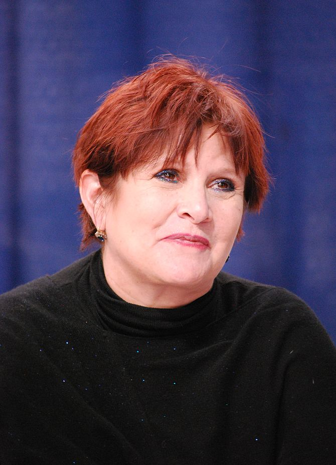 Carrie Fisher at WonderCon 2009.