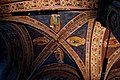 Firenze - Florence - Via Orsanmichele - Chiesa di Orsanmichele 1350 by Simone Talenti, Neri di Fioravante & Benci di Cione - View Up on Vaults & Frescoes I.jpg