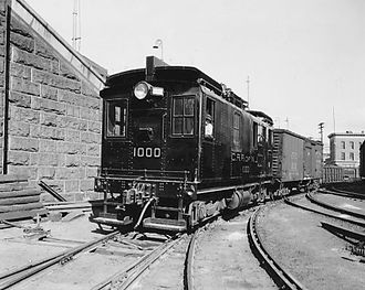 Baltimore and Ohio Railroad locomotives - CNJ 1000 in 1957, as it was being retired from service.  It is now at the B&O Railroad Museum.