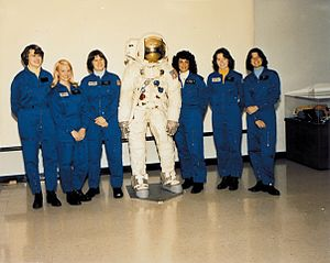Shannon Lucid - Lucid (far left) in the first class of female astronauts