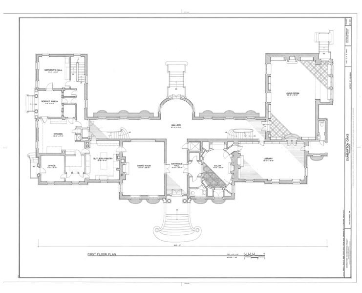 File first floor plan dumbarton oaks 3101 r street for Northwest floor plans