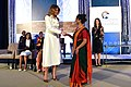 First Lady Melania Trump Presents the 2017 International Women of Courage Award to Sharmin Akter of Bangladesh (33682206566).jpg