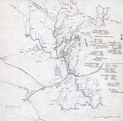 Confederate map, First Battle of Bull Run