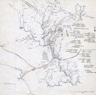 Hachure map - Image: First Manassas map 2