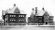 First Norwood High School Building Right Along Allison Elementary School Left Allison Avenue Norwood Ohio 1897