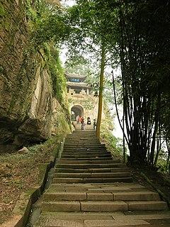 Diaoyucheng fortress in Hechuan, Chongqing, China