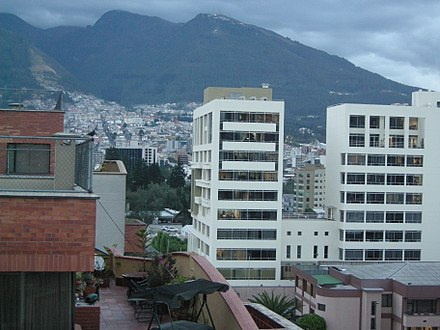Latin American Faculty of Social Sciences FLACSO University buildings in northern downtown Quito. Flacsobelo.JPG