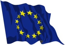 Flag of Europe waving.svg
