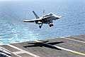 Flickr - Official U.S. Navy Imagery - F-A-18C Hornet lands aboard ship..jpg
