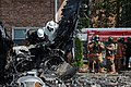 Flickr - Official U.S. Navy Imagery - Firefighters prepare the wreckage of an F-A-18D Hornet for removal..jpg