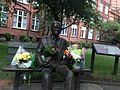 Flowers on Alan Turing's Memorial, as an early part of the flowers for Turing Project..jpg