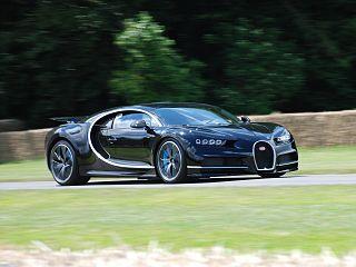 Sports car manufactured by Bugatti as a successor to the Bugatti Veyron