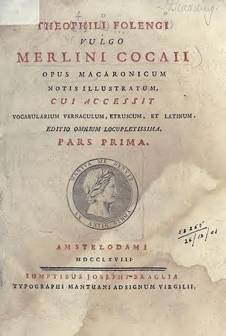 Teofilo Folengo - Maccheronee