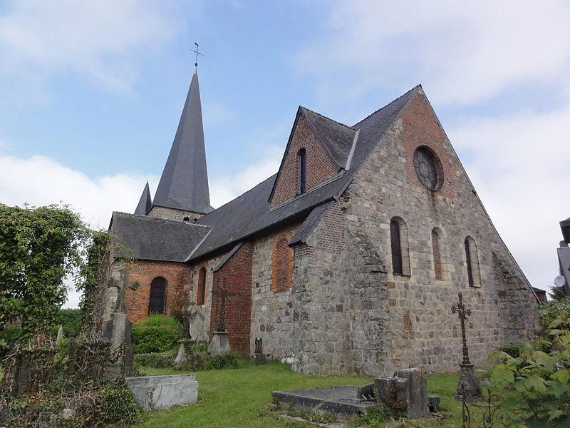 Fontaine-lès-Vervins (Aisne), église chevet, angle su-est