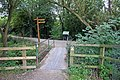 Footbridge into Attenborough Nature Reserve - geograph.org.uk - 53420.jpg