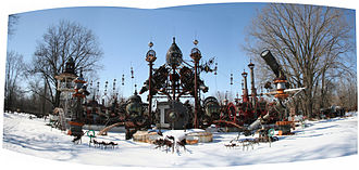 Forevertron - Panoramic of Dr. Evermor's Forevertron