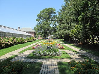 National Register of Historic Places listings in New Bedford, Massachusetts - Image: Formal Garden, Buttonwood Park, New Bedford MA