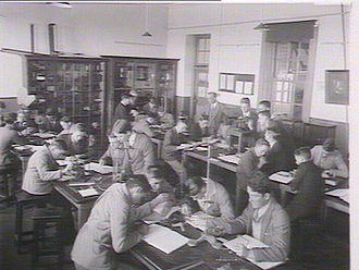Fort Street High School - Science class at Fort Street High School, 1930