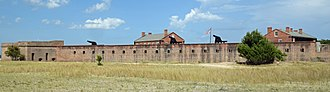 Fort Clinch - Image: Fort Clinch, Florida, U.S wall facing Cumberland Sound