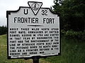 Fort Mayo historic marker Patrick County Virginia.JPG