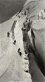 An open crevasse.