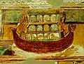 Fragment des fresques de la nef de l'église de Saint-Savin Arche de Noë (Compartiment C4) DSC 1691.jpg